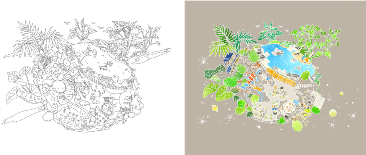 nature images sketchs 03