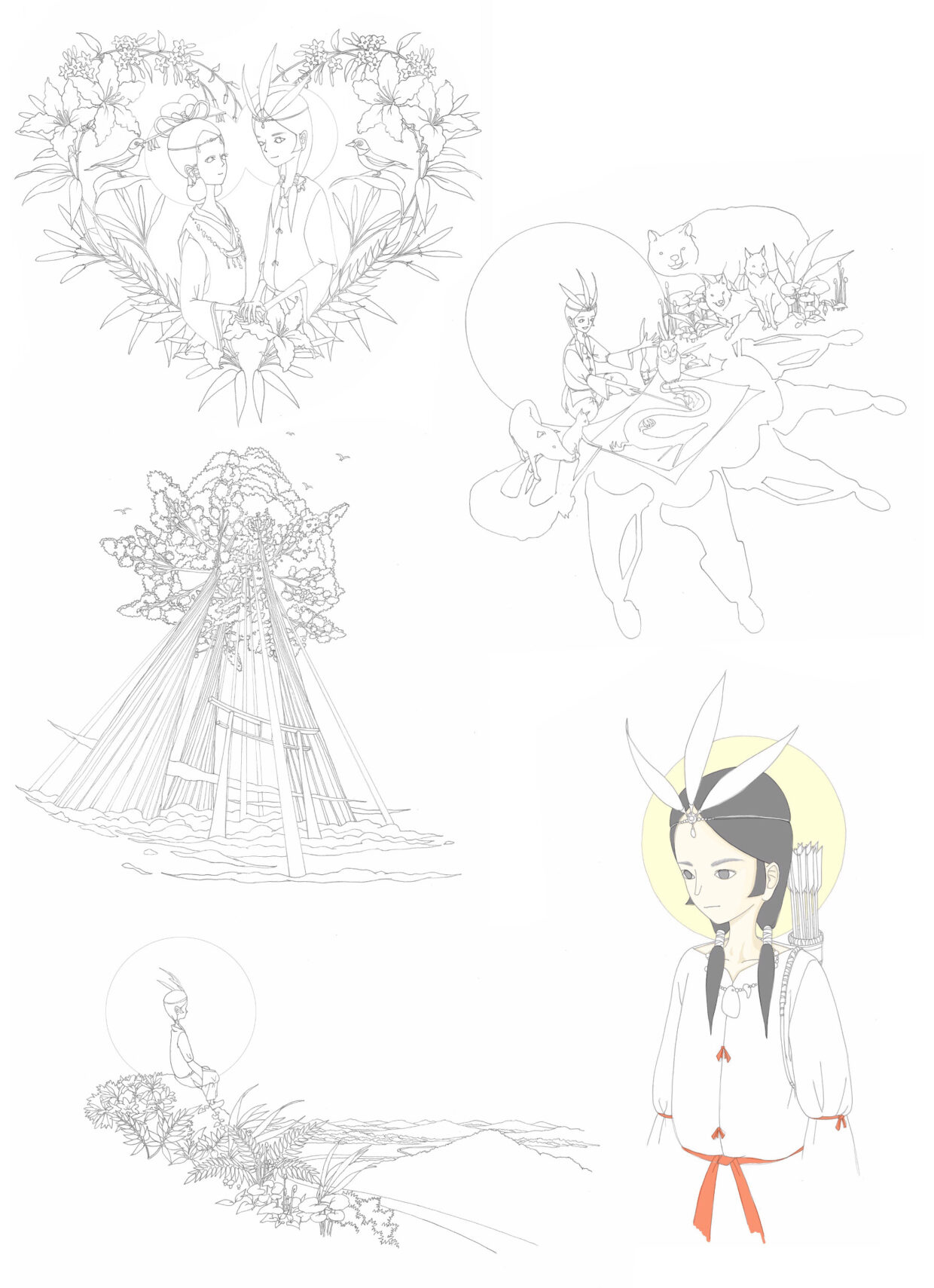 Tradition images sketchs 01